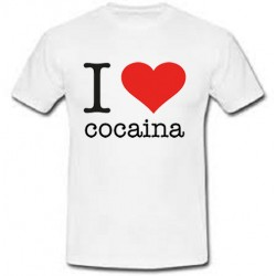 T-shirt uomo I Love Cocaina