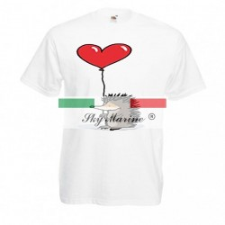 T-shirt donna Porcospino Love