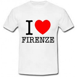 T-shirt unisex I love Firenze