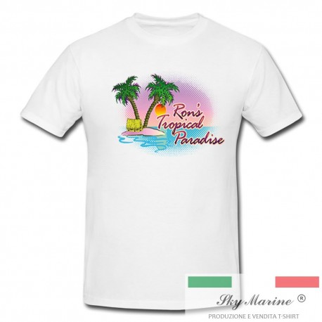 T-shirt uomo RON'S TROPICAL PARADISE